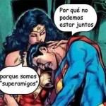 friendzone, superamigos, superman, wonderwoman