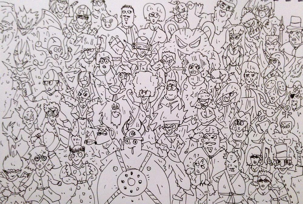 comics gordemon, gordemon, holdy, villapou, dibujo