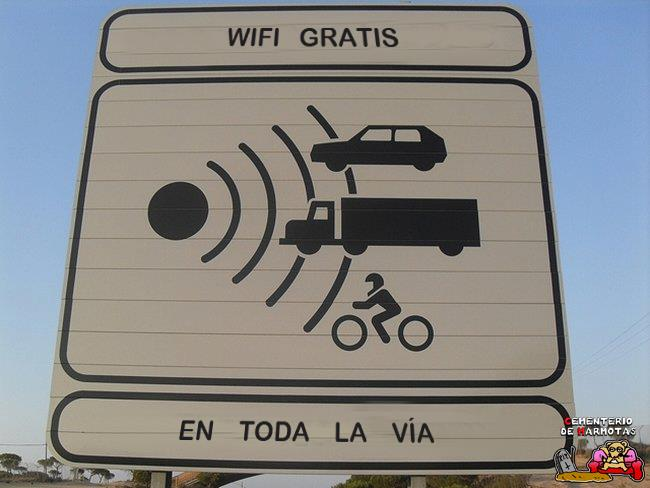 Wifi gratis en toda la autovía