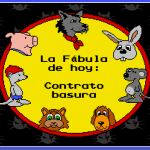 Aldea Follón, cuentos de animales, cartooners, animación 2d, contrato basura, contrato prácticas, formación, eventual, trabajadores esclavos, precariedad laboral, autónomos, sueldo mínimo