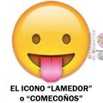 El icono de la lengua del Whatsapp, el lamedor