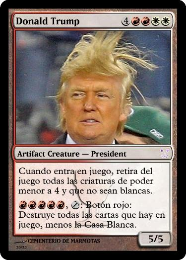 cartas magic inventadas, trump, usa, políticos en Carta Magic