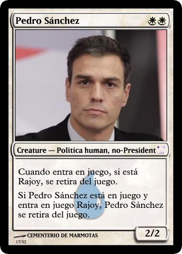 cartas magic inventadas, pedro sanchez