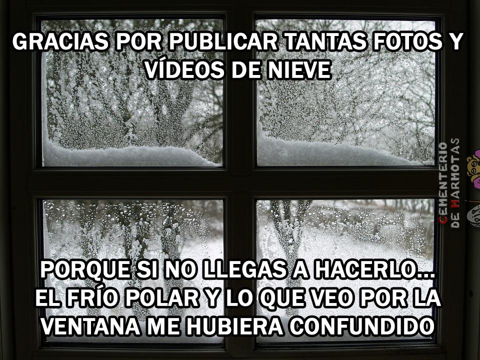 Ya sabemos que está nevando en Murcia, en Alicante y tal