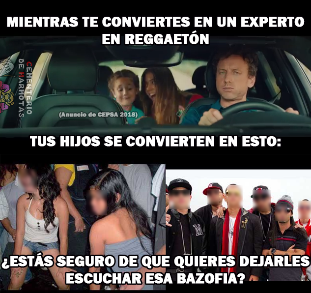 El anuncio de Cepsa - Deja a sus hijos escuchar reggaetón