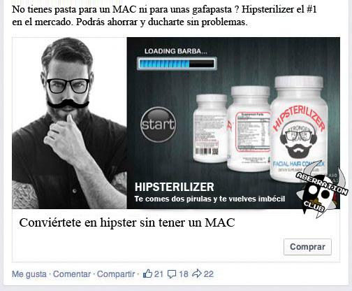 pastillas para convertirse en hipster, hipsterilizer