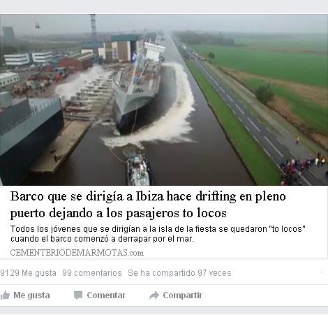 Barco que se dirigía a Ibiza hace drifting en pleno puerto, barco ibiza, barco drifting, drift