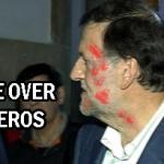Rajoy recibe un puñetazo en Pontevedra como regalo