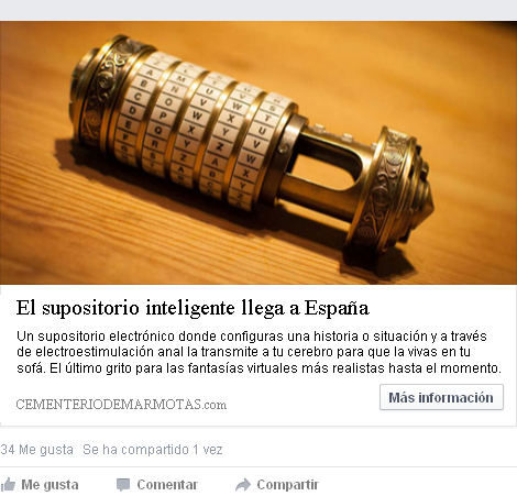 el supositorio inteligente, supositorio electronico, Meter cosas cotidianas en tu ano, ojete, facebook fake, estafas facebook