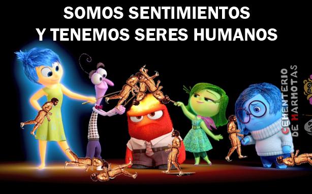 Somos sentimientos y tenemos seres humanos, inside out, memes, del revés, memes rajoy, memes política