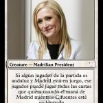 Cristina Cifuentes en carta Magic