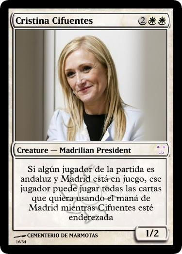 Cristina Cifuentes en carta Magic
