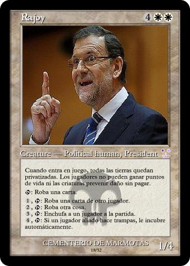 politicos en cartas magic, cartas magic inventadas, políticos en Carta Magic