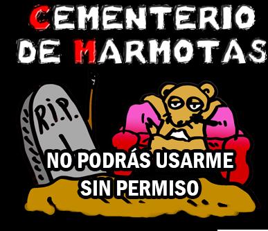 articulo 13 de la UE, logo cementerio de marmotas