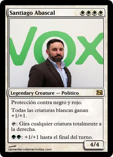 Santiago Abascal en carta Magic