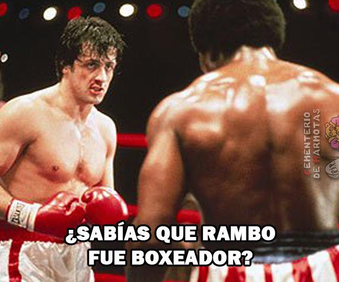 Rambo fue boxeador además de ir a la guerra